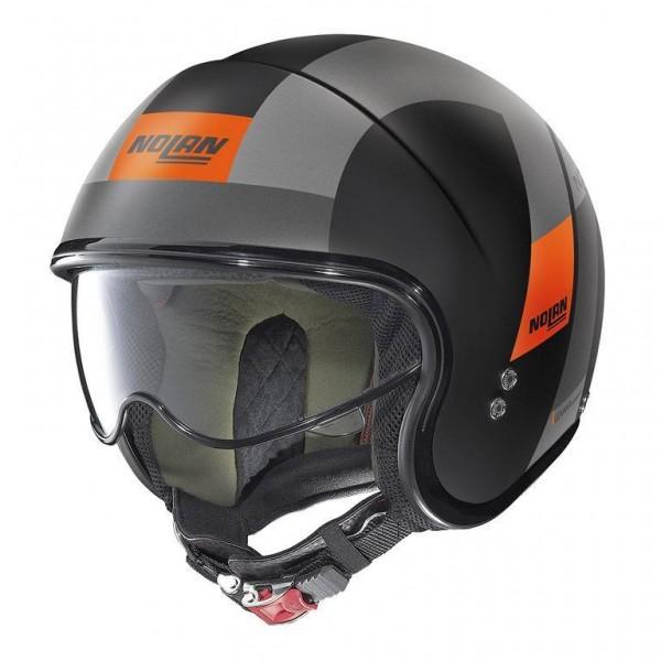 "NOLAN N21 - ""Spheroid Matt Schwarz/Orange 75"" - ECE"