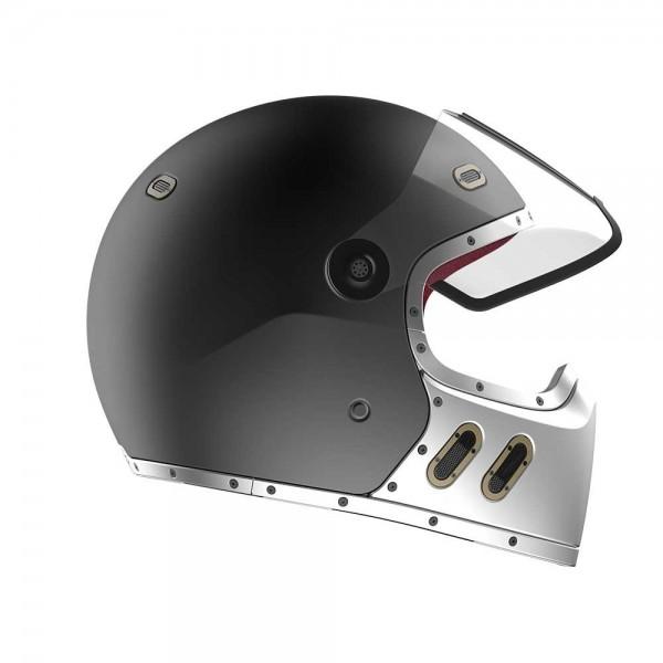 QWART Carbon Helmet Phoenix 2T Matt Titanium Silver Grey ECE