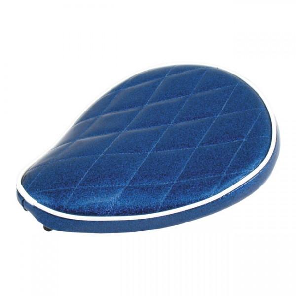 """LEPERA Seat - """"LePera, Spring mounted Metalflake solo seat. Moody Blue"""" - MULTIFIT"""