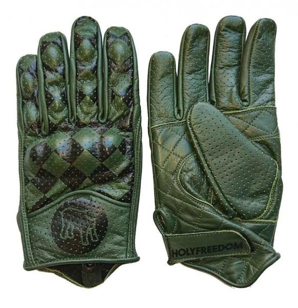 """HOLY FREEDOM Handschuhe - """"Bullit"""" - dunkelgrün & schwarz"""