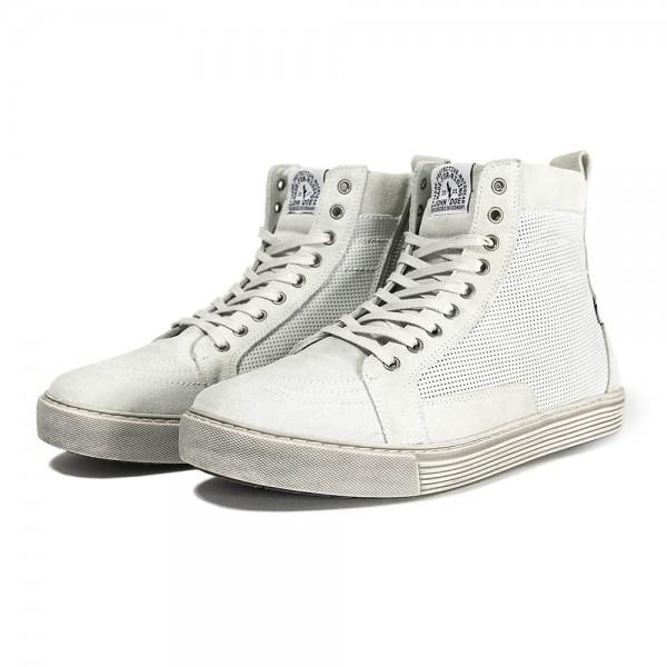 JOHN DOE Neo motorcycle sneakers white