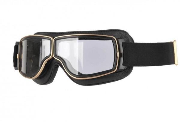 AVIATOR Brille T2 schwarz gold transparent