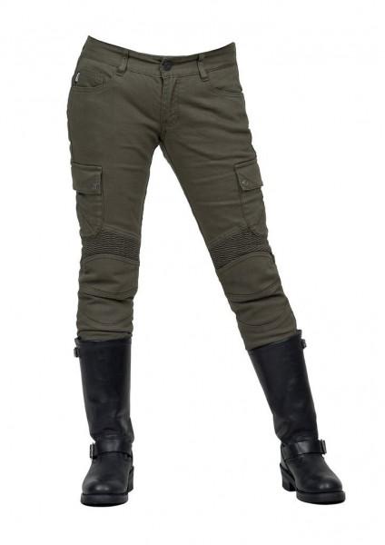 "uglyBROS Damen Jeans - ""Motorpool-GK"" - oliv"