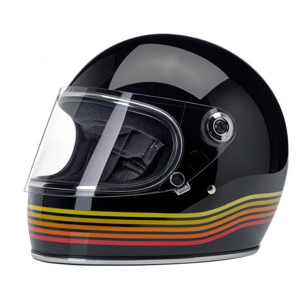 Biltwell Full Face Helmet Gringo S Black Spectrum ECE-DOT