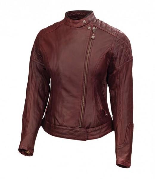 "ROLAND SANDS Women's Jacket - ""Riot"" - oxblood"