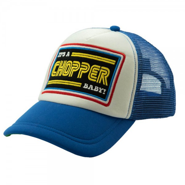 13 1/2 MAGAZINE IACB Trucker Hat in blue and white