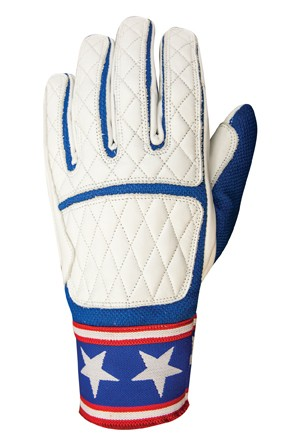 """ROLAND SANDS Gloves - """"Peristyle"""" - white & blue"""