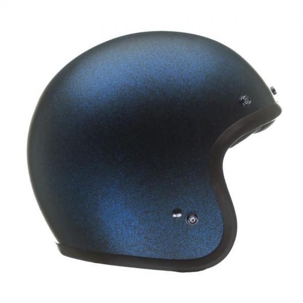 "BELL Custom 500 - ""Metal Flake Matt Blau"" - ECE & DOT"