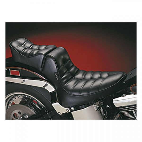 """LEPERA Sitz - """"Regal 2-up seat. Pleated. Gel"""" - 00-17 Softail (excl. Deuce, FXS, FLS/S) with up to 1"""