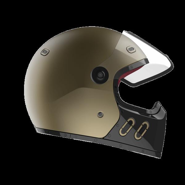 Qwart Full Face Helmet Carbon Phoenix Matt Magnesium and Black