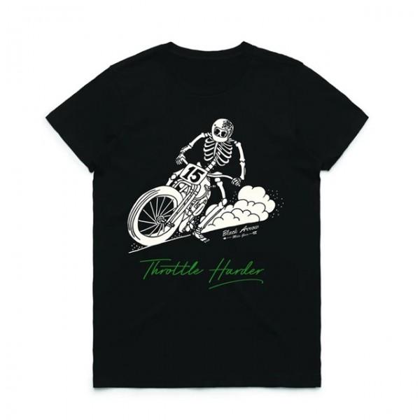 Black Arrow Women's T-Shirt Throttle Harder