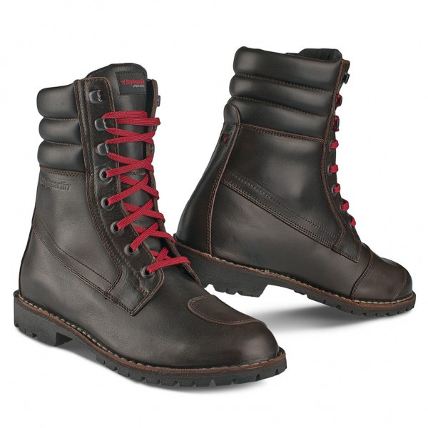 "STYLMARTIN Motorcycle Boots - ""Indian"" - waterproof brown"