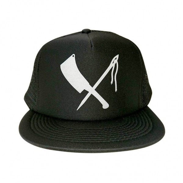 Rusty Butcher Cap Mesh Logo schwarz