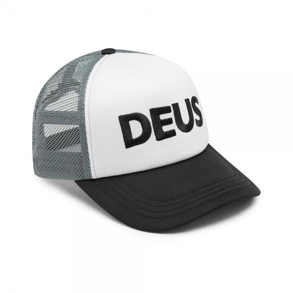 DEUS EX MACHINA Trucker Cap Black and White Logo