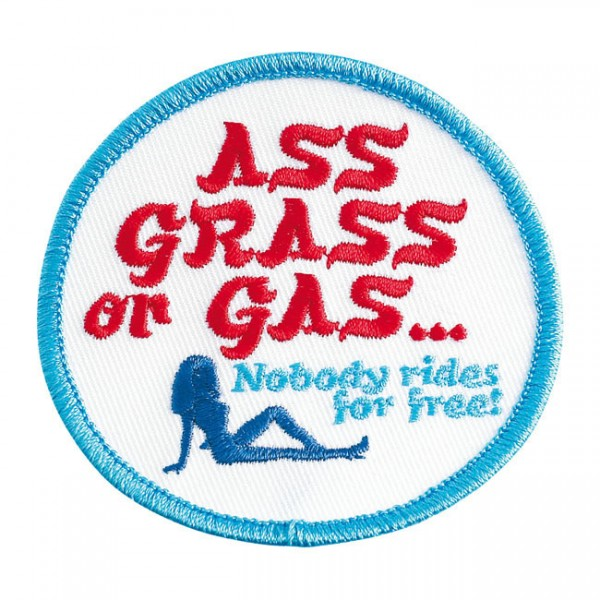 "BILTWELL Patch - ""Ass Grass or Gas"""