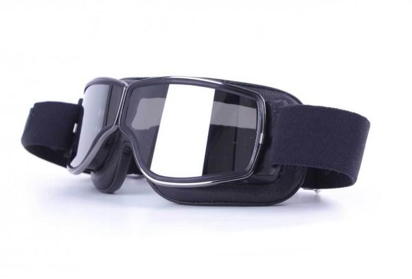 AVIATOR Goggles T2 in black gunmetal and silver mirror