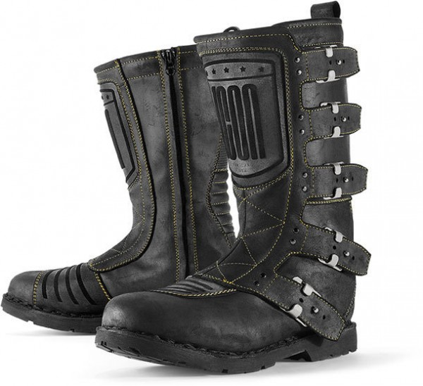 """ICON 1000 Women's Motorcycle Boots - """"Elsinore"""" - black"""