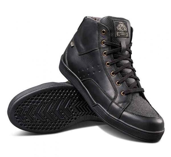 "ROLAND SANDS Motorcycle Sneaker - ""Fresno"" - wasserproof black"