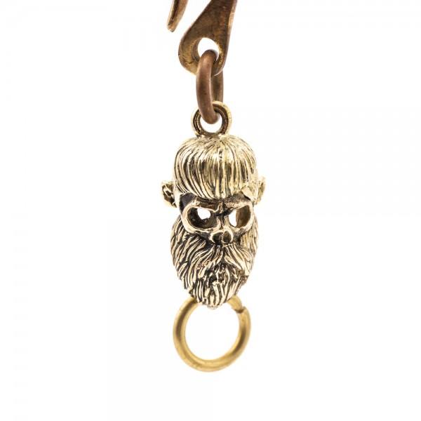"""SEVENTIES Schlüsselanhänger - """"Skull Beard Rockabilly"""""""