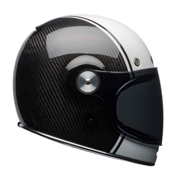 BELL Bullitt Carbon DLX Pierce Black & White ECE Helmet