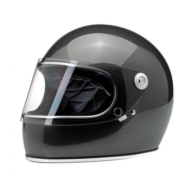 "BILTWELL Gringo-S - ""Metallic Charcoal"" - with visor - DOT"