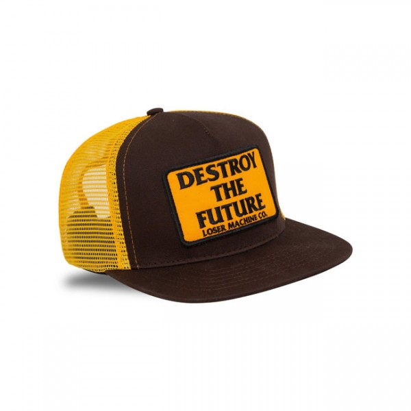 LOSER MACHINE COMPANY Destroy Snapback brown and gold