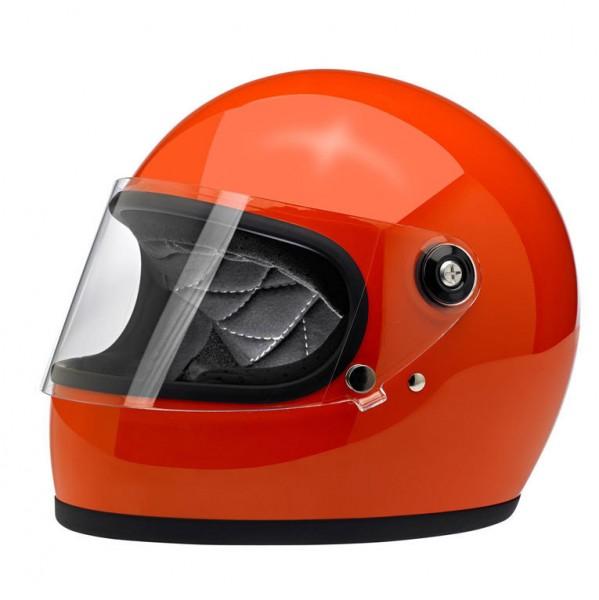 Biltwell Gringo S Helmet Hazard Orange ECE DOT
