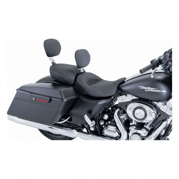 """MUSTANG Seat - """"Mustang, passenger seat. Recessed with backrest"""" - 97-20 FLT/Touring"""