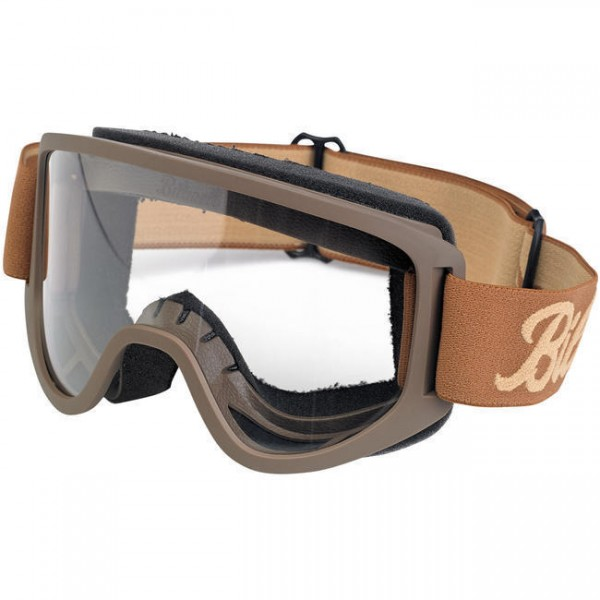 BILTWELL Cross Brille Moto 2.0 Goggle Script Chocolate