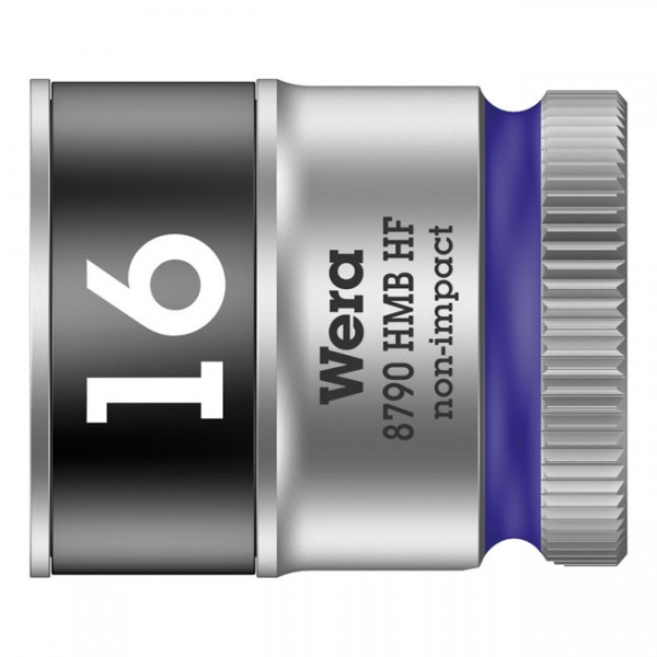 """WERA Tools - """"Zyklop 3/8"""" socket with holding function - Metric 16.0"""" - Hex bolts and nuts"""