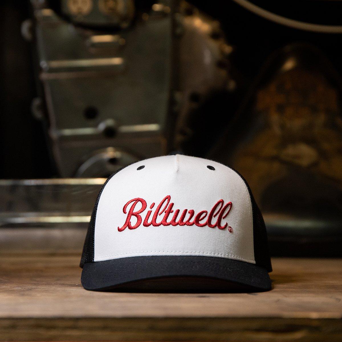 BLACK//WHITE//RED **BRAND NEW /& IN STOCK** BILTWELL VINTAGE SNAPBACK CAP