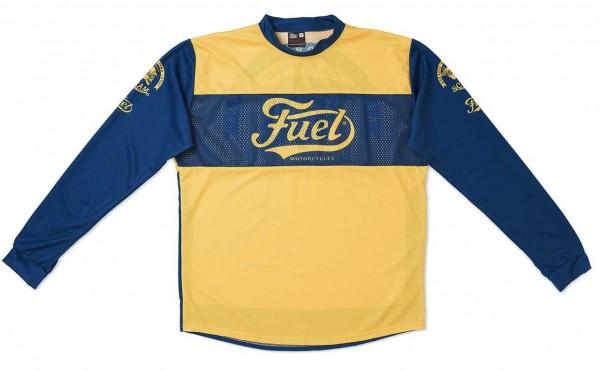 "FUEL Moto Jersey - ""Scram 19"" - blue & yellow"