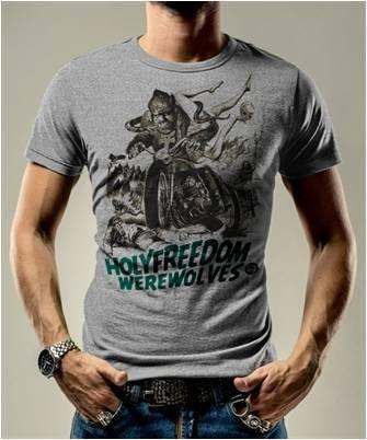 """HOLY FREEDOM T-Shirt - """"Wolf Grey"""" - grau"""