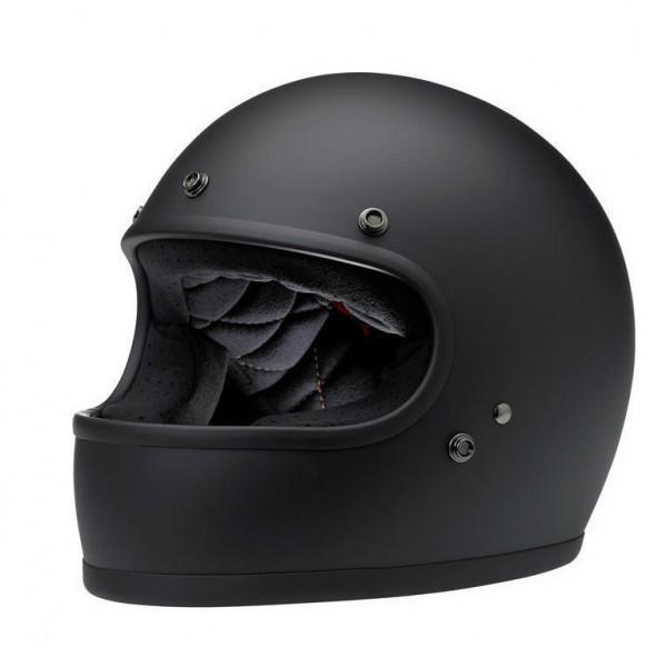 Biltwell Gringo Helm Flat Black mattschwarz mit ECE DOT