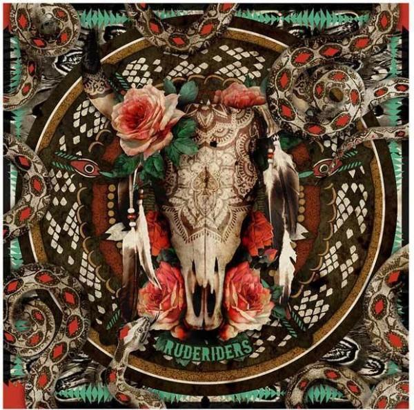 "RUDE RIDERS Scarf - ""Mex Skull"" - 140 x 130 cm"