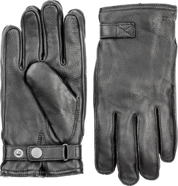 "HESTRA Handschuhe - ""Deerskin Wool Terry"" - schwarz"