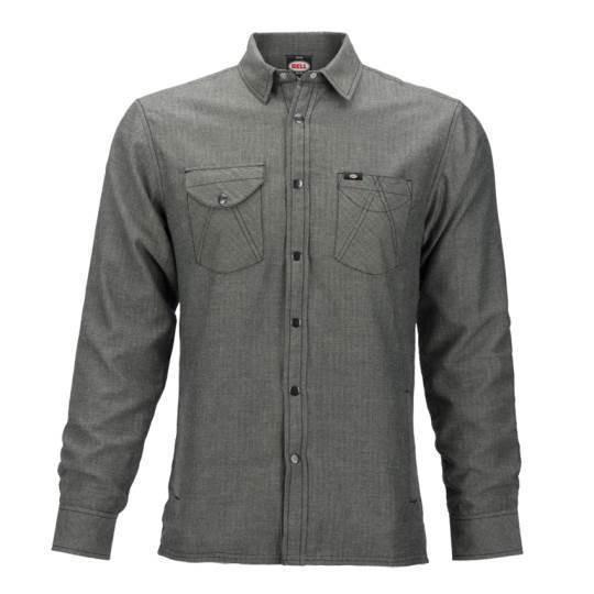 """BELL Men's Shirt with windstopper- """"Rucker Herringbone"""" - grey"""