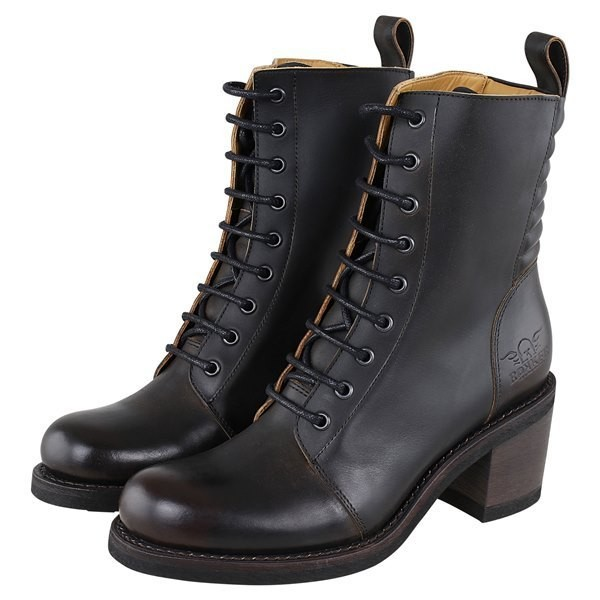 """ROKKER Women's Motorcycle Boots - """"Speedway Lady"""" - antique black"""