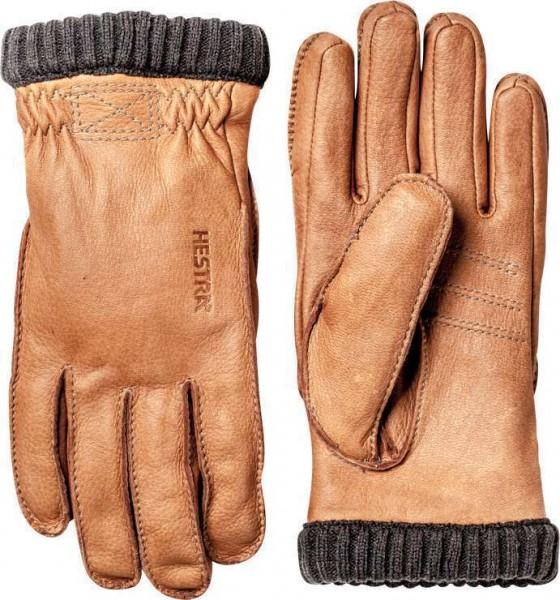 "HESTRA Handschuhe - ""Deerskin Primaloft Rib"" - hellbraun"
