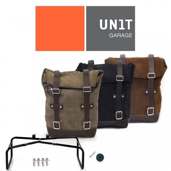 "UNITGARAGE - ""Waxed Suede Side Pannier + Double Subframe nineT"" for BMW"
