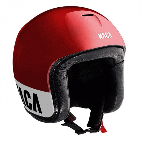 NACA open face helmet Riviera in red and white