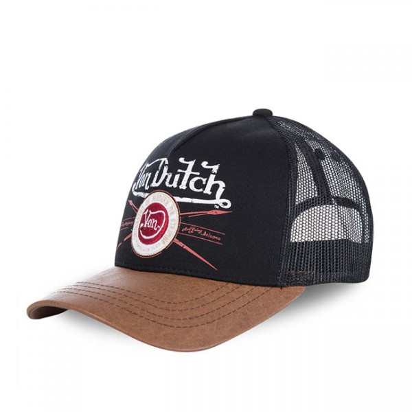 """VON DUTCH Cap - """"Pin"""" - schwarz & braun"""