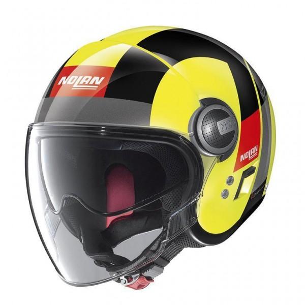 "NOLAN N21 VISOR - ""Spheroid Led Yellow 47"" - ECE"