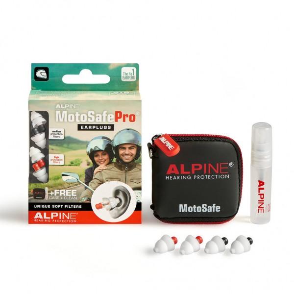 """ALPINE Earplugs - """"MotoSafe Pro"""" - 2 Pairs"""