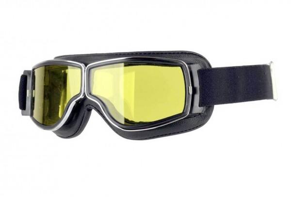 AVIATOR Brille T2 schwarz chrom gelb