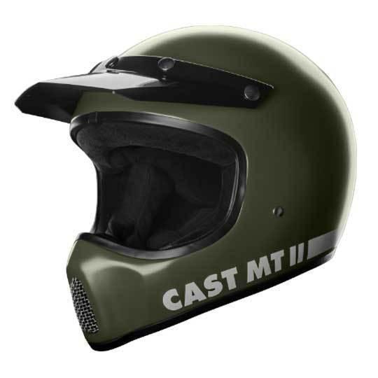 CAST MT II Matt Military Green Motorcycle Helmet