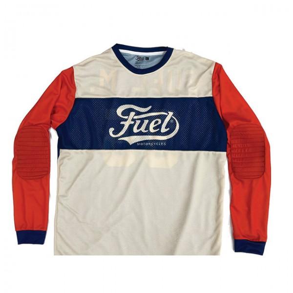 FUEL Moto Jersey 35 in Weiß Blau und Orange