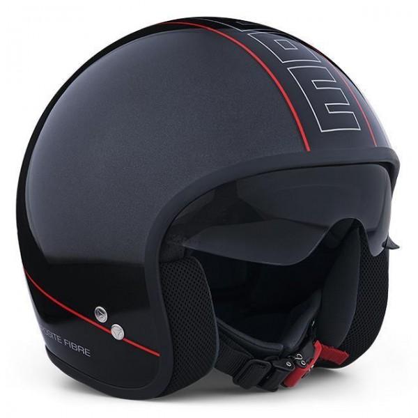 MOMO Helm - CRUISER - Anthrazit-Poliert