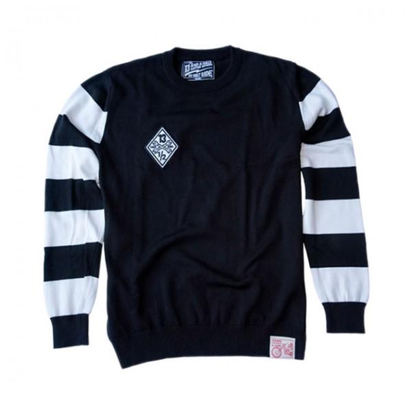 13 1/2 MAGAZINE sweatshirt Outlaw Free Bird black and white