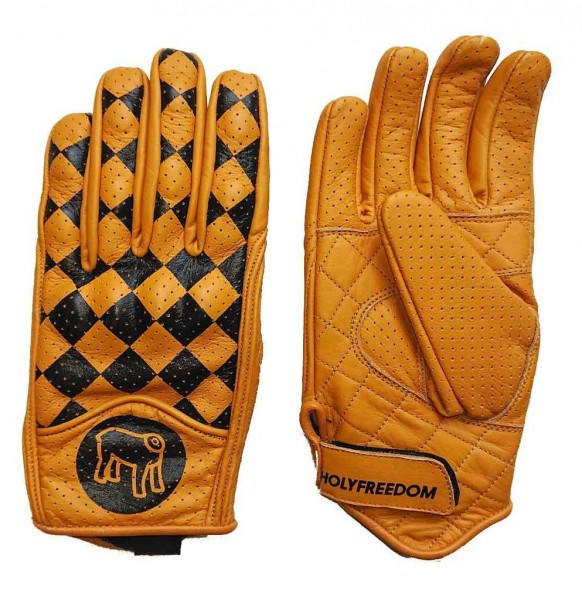 "HOLY FREEDOM Gloves - ""Bullit"" - yellow & black"